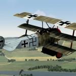 Fokker Dr.I 155/17 Piloted by Ltn. Eberhard Mohnicke of Jasta 11